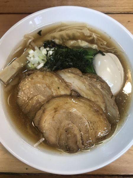 「特製中華そば極細麺」@ときわ亭の写真