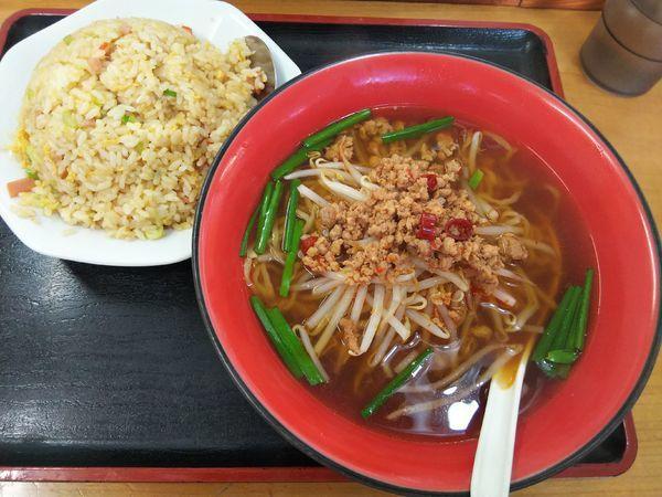 「ラーメンセット 「台湾ラーメン+炒飯」」@中華料理 喜多郎 松本店の写真