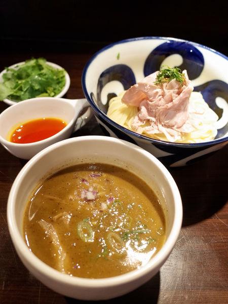 「辣濃辛煮干つけ麺…990円」@九十九里煮干つけ麺 志奈田の写真