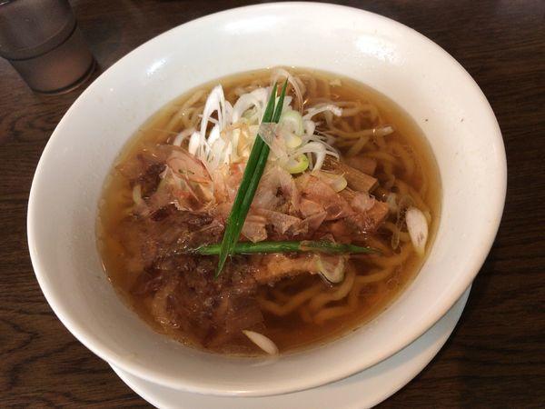 「カツオ 醤油」@手打ち麺 やす田の写真