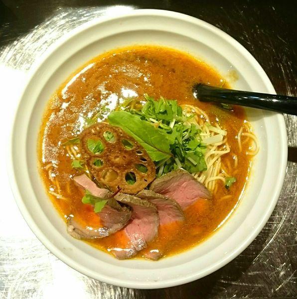 「ぶるずラーメン(細麺)」@牛骨らーめん ぶるずの写真