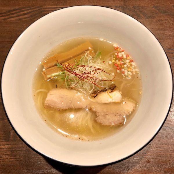 「鯛塩らぁ麺 寿 (900円)」@らぁ麺BAR 錦 iwamotoの写真