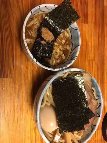 「つけ麺➕特製トッピング」@自家製麺 然の写真