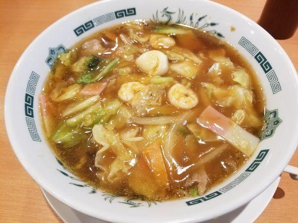 「五目あんかけ麺」@日高屋 宮原東口店の写真