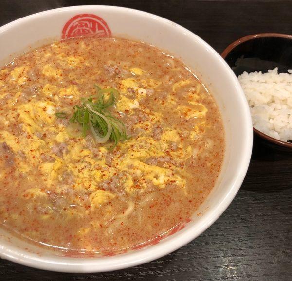 「豚骨タンタン麺(中辛・麺固め¥880)」@徳島中華そば 徳福 神田店の写真