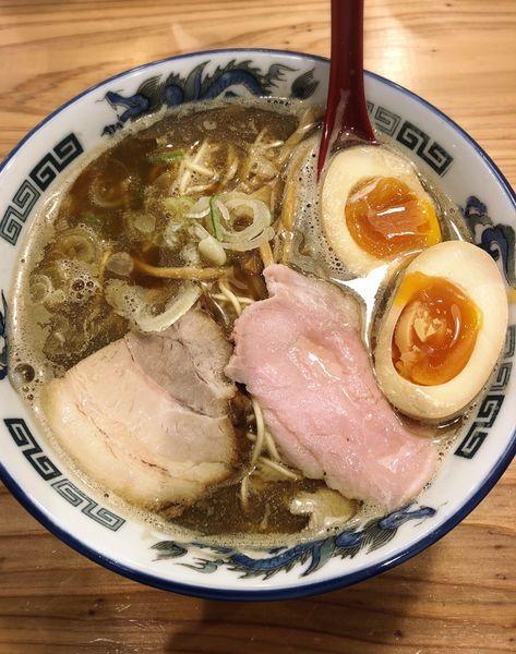 「煮干  味玉」@くじら食堂 nonowa東小金井店の写真