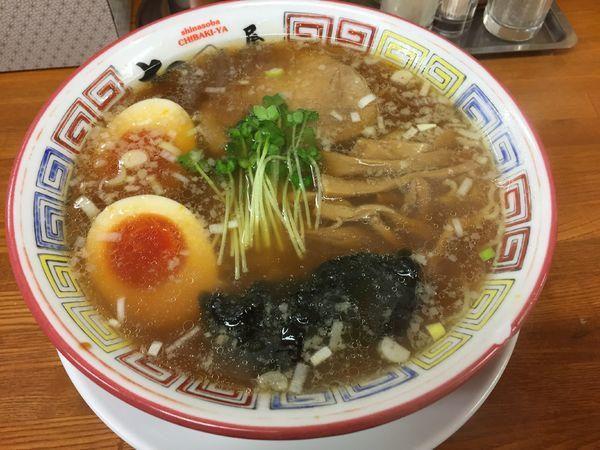 「支那そば(醤油味)+半熟煮玉子」@ちばき屋 葛西店の写真