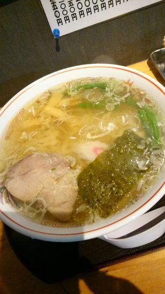 「しおラーメン(油少なめ、かた麺) 750円」@本家 風の子の写真
