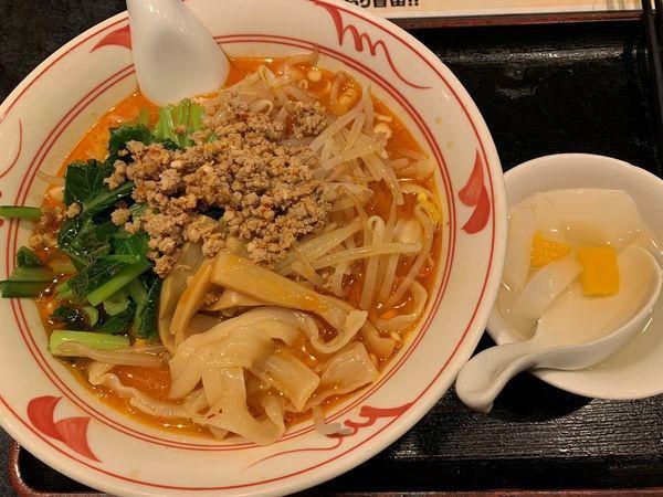 「担担刀削麺(ランチメニュー)」@中華居酒屋 香港厨房の写真
