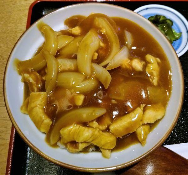 「カレー丼 750円」@二天門 やぶの写真