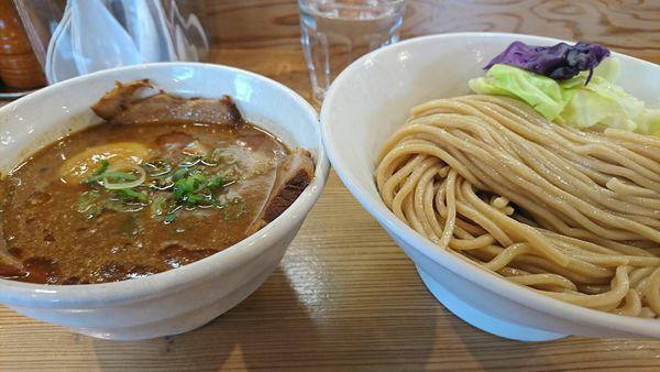 「海老味噌つけ麺全部」@らーめん いつ樹 本店の写真