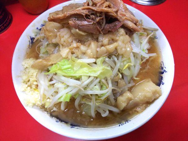 「小ラーメン(麺少なめ)ニンニクアブラ 750円」@ラーメン二郎 松戸駅前店の写真