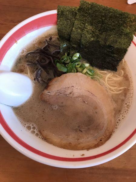 「豚骨細麺+替玉(¥600+¥100)」@とんこつラーメン 光★MENJIの写真