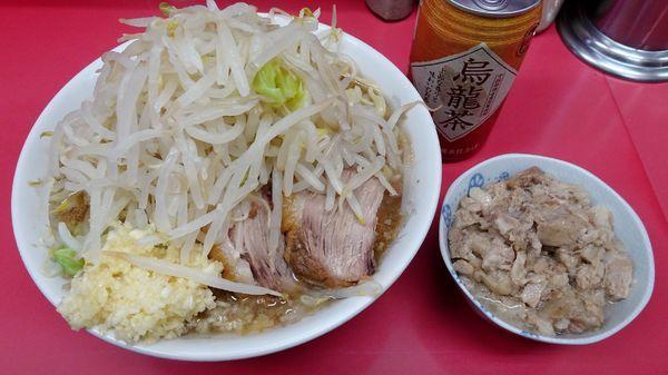 「小ラーメン(750円)+脂っKOIWA(50円)野菜ニンニク」@ラーメン二郎 小岩店の写真