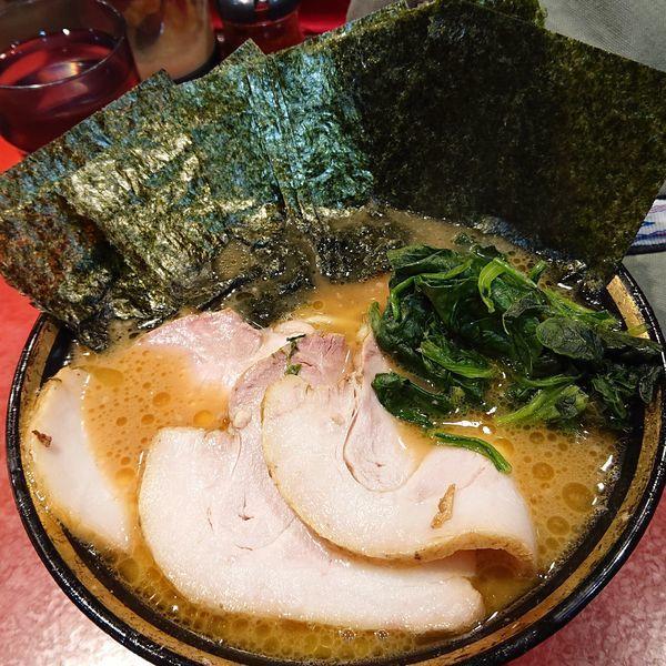 「チャーシューラーメン+海苔増し+ライス」@厚木家の写真