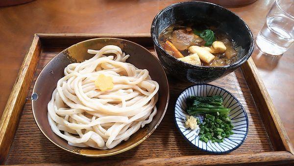 「東村山地粉猪肉汁うどん(冷)」@野口製麺所の写真