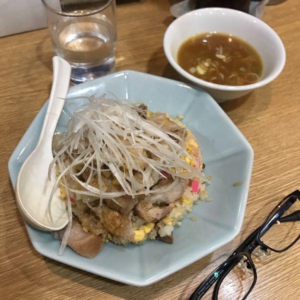 「背脂焼豚炒飯」@中華 味一の写真