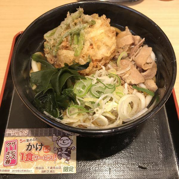 「【季節限定】スタミナ(¥500)」@名代 箱根そば 田町芝浦店の写真