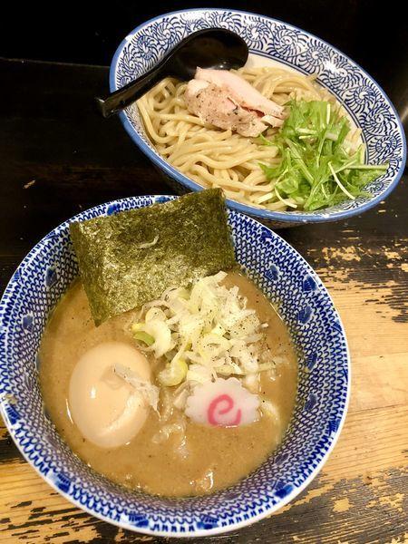 「【限定】帆立の塩つけ麺 中 ¥1000」@狼煙 〜NOROSHI〜の写真
