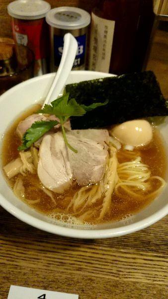 「平子煮干そば(750円)+煮玉子(120円)」@新橋 纏の写真