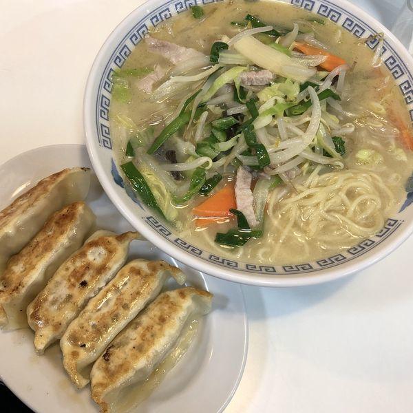 「タンメン+餃子(セット)」@幸香の写真