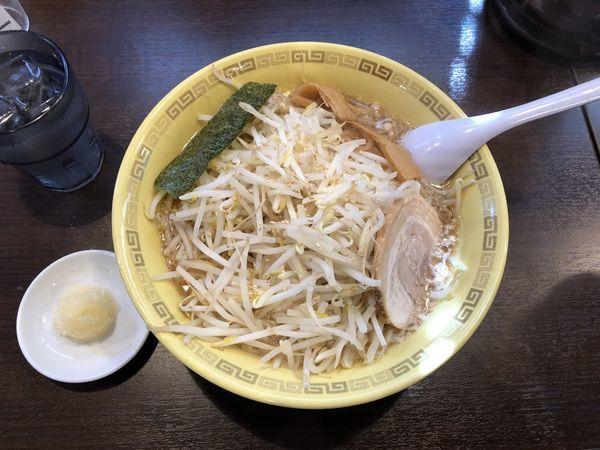「もやし麺 太麺(ニンニク、大盛り)950円」@江川亭 南多摩店の写真