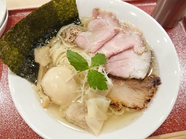 「特製イリコそば」@麦と麺助 新梅田中津店の写真