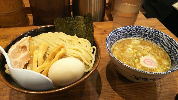「味玉つけめん大盛り」@舎鈴 ビーンズ武蔵浦和店の写真