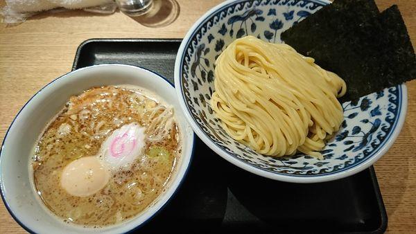 「濃厚煮干しつけそば+味玉(930円)」@中華そば 勝本の写真