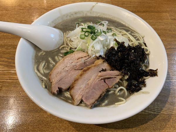 「極濃厚煮干しそば(中盛りサービス)和え麺」@中村屋総本山の写真