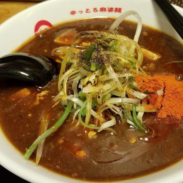 「辛っとろ麻婆麺 レベル3(大辛)大盛」@辛っとろ麻婆麺 あかずきんの写真