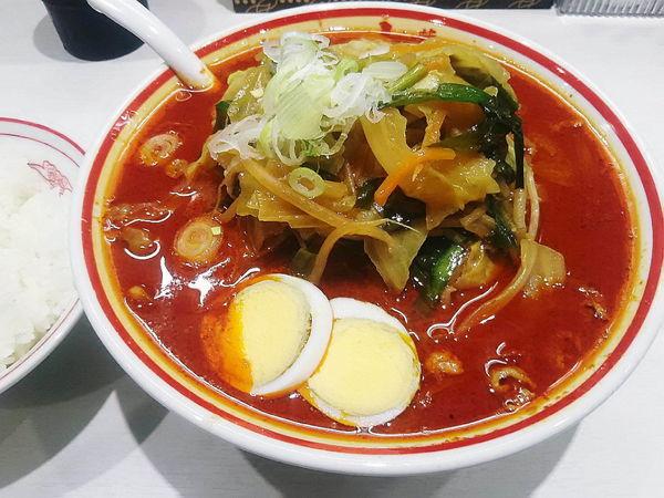「北極やさい大盛り野菜も大盛り+半ライス」@蒙古タンメン 中本 川越店の写真