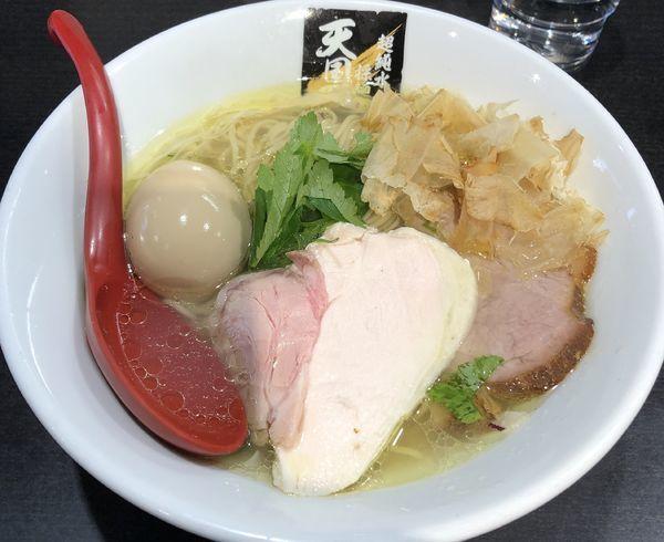 「鶏鮭塩麺+味玉(¥830+¥100)」@超純水採麺 天国屋の写真