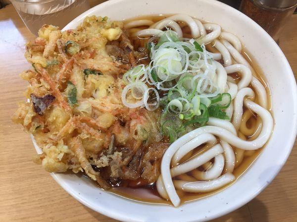 「天ぷらうどん¥370」@めん処一ぷく 新座店の写真