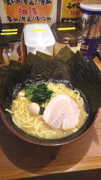 「豚骨醤油ラーメン(海苔増し)」@極味家 日ノ出町店の写真