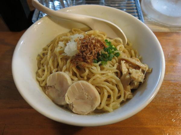 「鶏まぜそば(中盛):700円」@濃厚鶏白湯らーめん 麺屋一楽の写真
