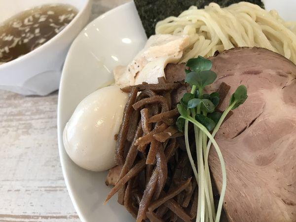 「特製塩つけ麺 1,100円 大盛 50円」@らーめん 羊と狼の写真