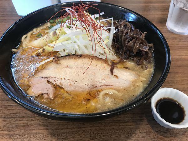 「【限定】濃厚酸辣湯麺 香酢 900円」@らーめん かいじ 東仙台店の写真