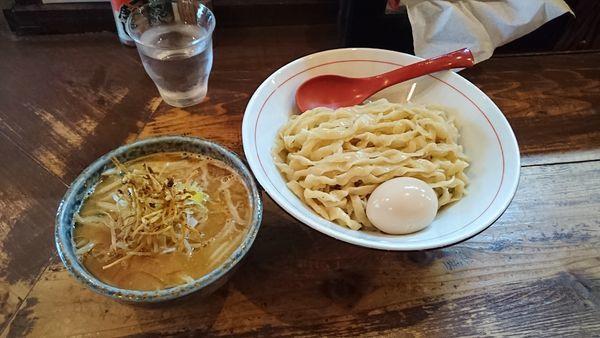 「味噌つけ麺大盛り・半熟味玉無料トッピング(830円)」@東京味噌らーめん 鶉の写真