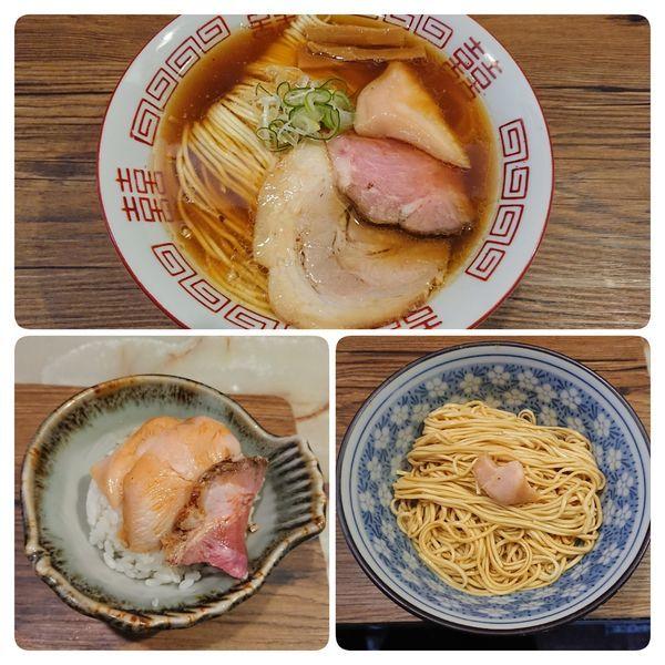 「中華そば特選黒醤油 他」@あってりめんこうじ 安中原市店の写真