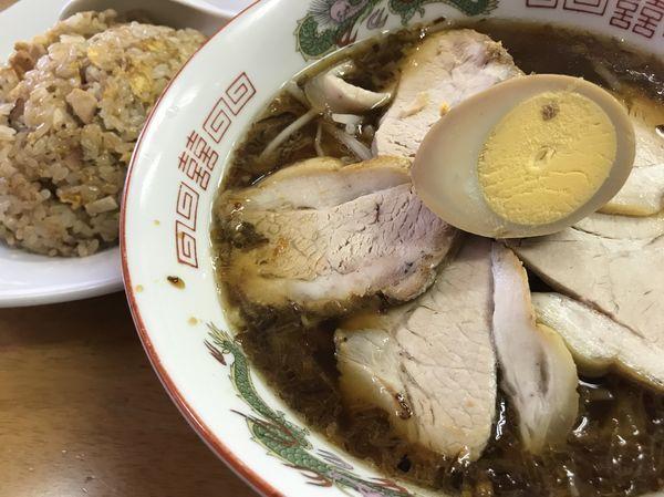「チャーシューメン 800円 チャーハン 680円」@中華料理 喜楽の写真