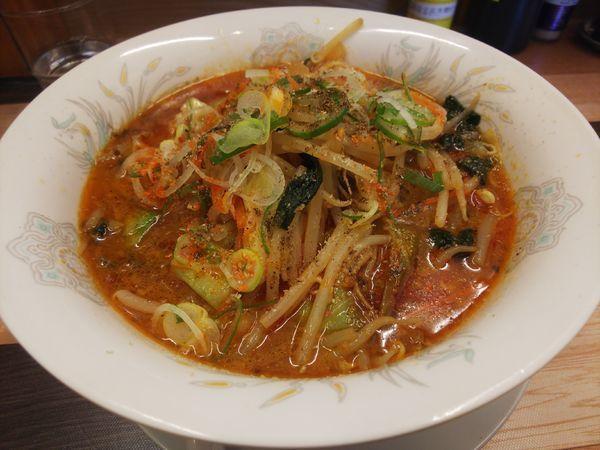 「四川野菜味噌ラーメン+辛さ増し」@ラーメン餃子 なか屋の写真
