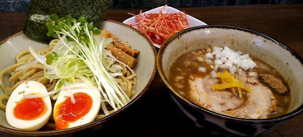 「特製つけ麺(中) 辛ネギ」@麺屋みつば+クローバーの写真