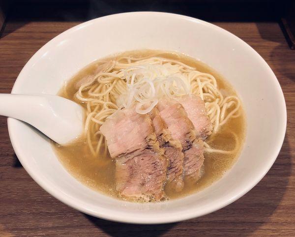 「肉そば(小¥750)」@自家製麺 伊藤 浅草店の写真
