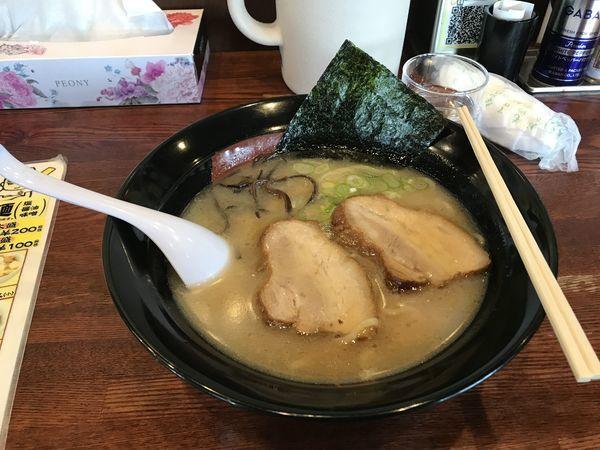 「三段バラ叉焼麺」@ラーメン&らーめん一代元 白岡店の写真