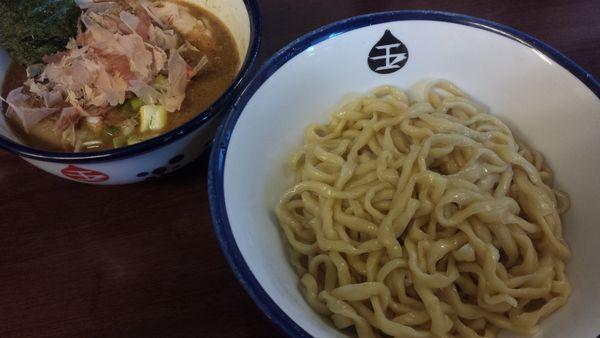 「つけめん800円(麺少なめ)」@つけめん 玉の写真