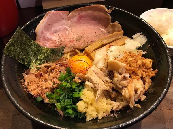 「【限定】まぜそばボンバイエ」@麺屋きころく 成増店の写真