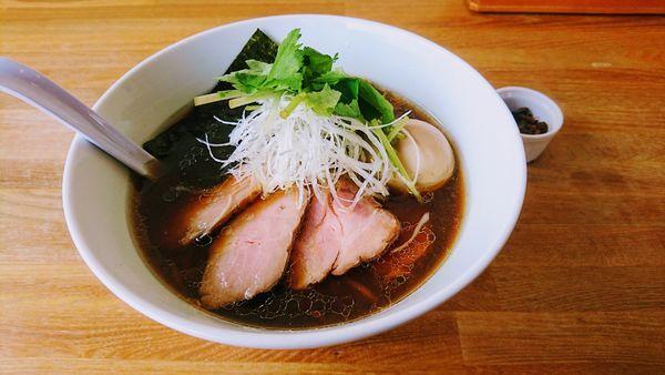 「特製正油ラーメン」@湖麺屋 Reel Cafeの写真