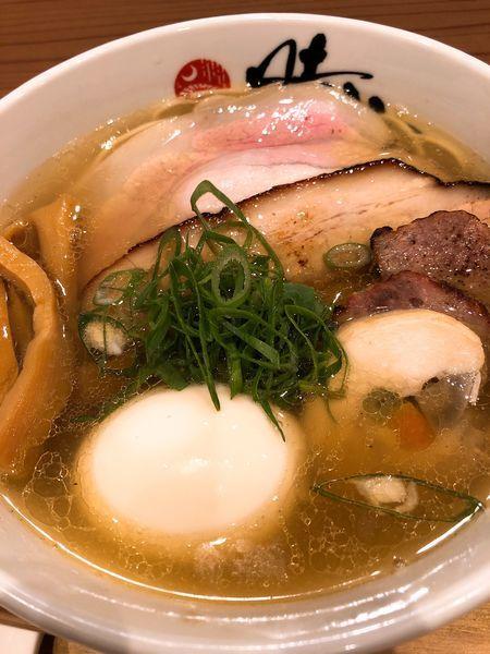 「塩そば ¥820+特製トッピング ¥300」@中華蕎麦 時雨の写真