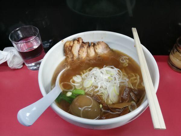 「チャーシュー味玉ラーメン&卵かけご飯」@麺 えどやの写真